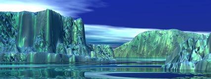 Icebergs illustration libre de droits