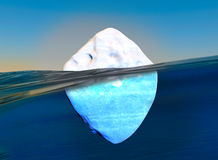 Icebergs adrift in the sea Royalty Free Stock Image