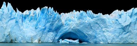 Icebergs aislados en negro Imagen de archivo