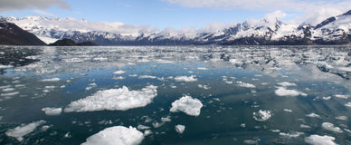 Icebergs And Mountains Panoramic - Kenai Fjords Royalty Free Stock Photography