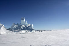 Icebergs on Antarctica Stock Photography