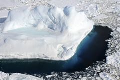 Icebergs on Antarctica. Icebergs floating in the Weddell Sea, Antarcitca Royalty Free Stock Photography