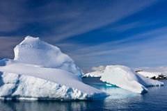 Icebergs in Antarctica Royalty Free Stock Image