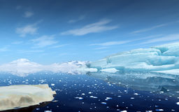 Icebergs in Antarctica. Royalty Free Stock Photos