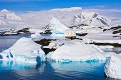 Icebergs in Antarctica Royalty Free Stock Photo