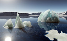 Icebergs in Antarctica. Royalty Free Stock Photo