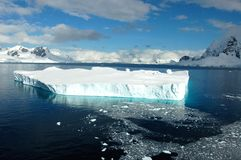 Icebergs in Antarctica. Icebergs in the waters of Antarctica royalty free stock photos