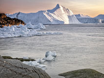 Icebergs on arctic ocean at Greenland Royalty Free Stock Photos