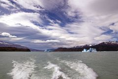 Icebergs in the Argentino Lake, Argentina Royalty Free Stock Photos