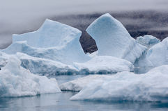 Icebergs azules Narsarsuaq Imagenes de archivo