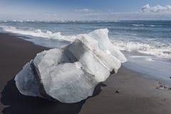 Icebergs on the beach Stock Photography