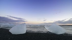Icebergs on a beach Royalty Free Stock Image