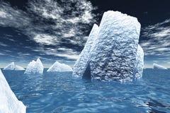 Icebergs dans l'océan Images libres de droits