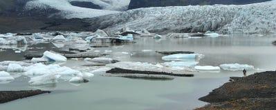 Icebergs dans le lac Photographie stock libre de droits