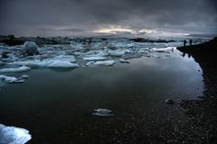 Icebergs de fusión Fotografía de archivo