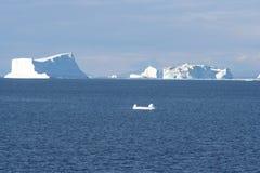 Icebergs de Groenlandia foto de archivo