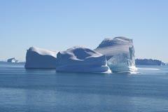Icebergs de Groenlandia fotografía de archivo libre de regalías