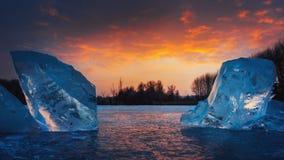 Icebergs de Hongrie Image libre de droits