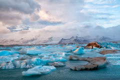 Icebergs de l'Islande Photo stock