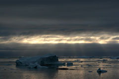 Icebergs in the Disco Bay, Ilulissat royalty free stock photo