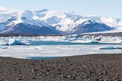 Icebergs drifting to sea in Jokulsarlon Iceland Royalty Free Stock Photography