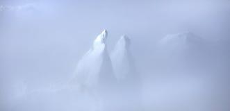Icebergs du Groenland dans les nuages Photographie stock libre de droits