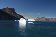 icebergs du Groenland hors fonction Photographie stock