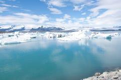 Icebergs du ³ n de rlà de ¡ de Jökulsà Photographie stock