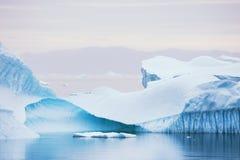Icebergs en Groenlandia Fotografía de archivo libre de regalías