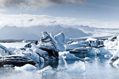 Icebergs en Islande Photos stock