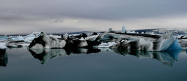 Icebergs en Islande Photos libres de droits