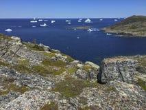 Icebergs en la isla de Fogo Foto de archivo