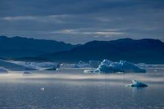 Icebergs en Narsuaq Imagenes de archivo