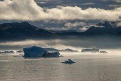 Icebergs en Narsuaq Imagen de archivo libre de regalías