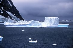 Icebergs in Errera Channel at Culverville Island, Antarctica Royalty Free Stock Images