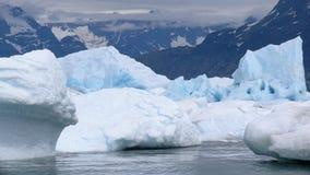Icebergs et montagnes Photographie stock libre de droits