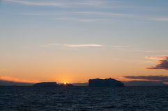 Icebergs in the evening light Stock Images