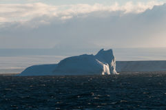 Icebergs in the evening light Royalty Free Stock Photo