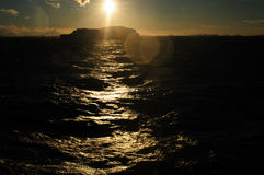 Icebergs in the evening light Royalty Free Stock Images