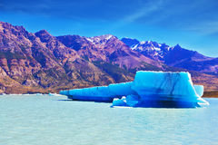 The icebergs float near a ship board royalty free stock photos