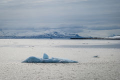 Icebergs floating in the arctic sea in Svalbard Royalty Free Stock Image