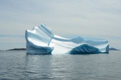 Icebergs floating in the Atlantic Ocean, Greenland royalty free stock images
