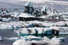 Icebergs floating Stock Image