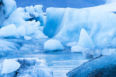 Icebergs floating in Jokulsarlon glacial lagoon Stock Photo