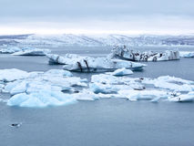 Icebergs floating at Jokulsarlon, Iceland Stock Photo