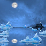 Icebergs. Royalty Free Stock Photos