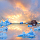 Icebergs. Stock Photo