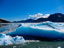 Icebergs gigantesques en Alaska Photographie stock libre de droits