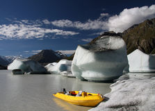 Icebergs on a Glacial Lake Royalty Free Stock Image