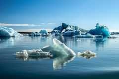 Icebergs in Glacier Lagoon royalty free stock photography
